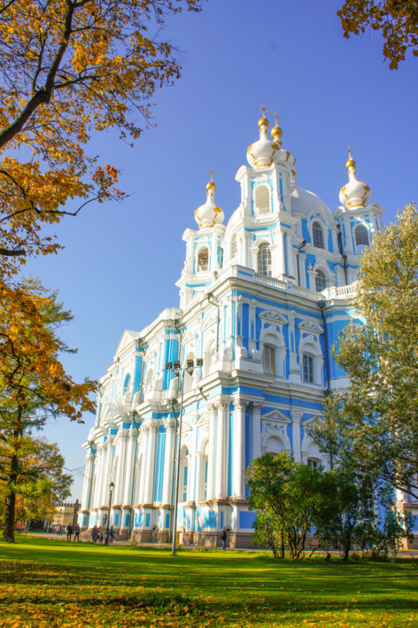 Smolny Cathedral in St. Petersburg Russia