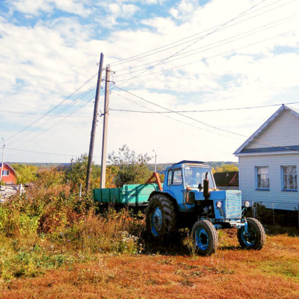 Russian countryside: an old tractor