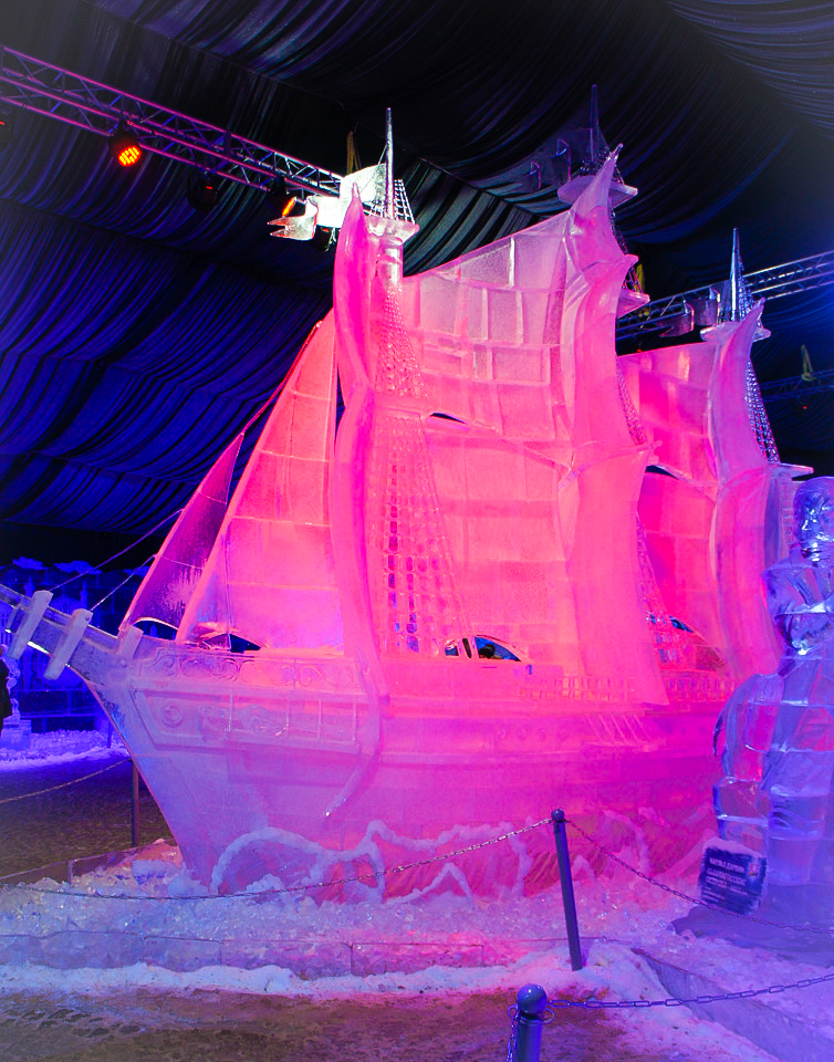 Ice sculpture festival in St. Petersburg