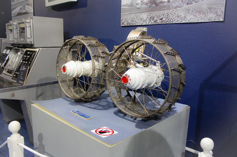 Wheels of a Mars rover in the Museum Of Cosmonautics, St. Petersburg