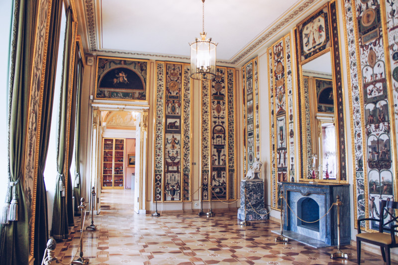 Arabesque Room of the Stroganov Palace in St. Petersburg, Russia