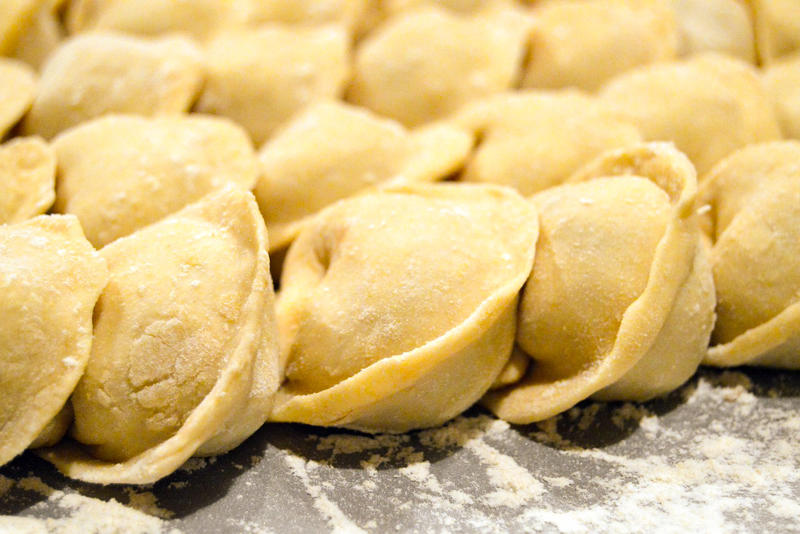 Traditional Russian Food : pelmeni