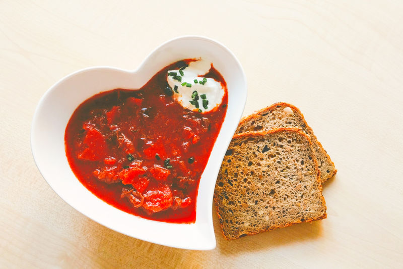 Borsch is a traditional Russian food