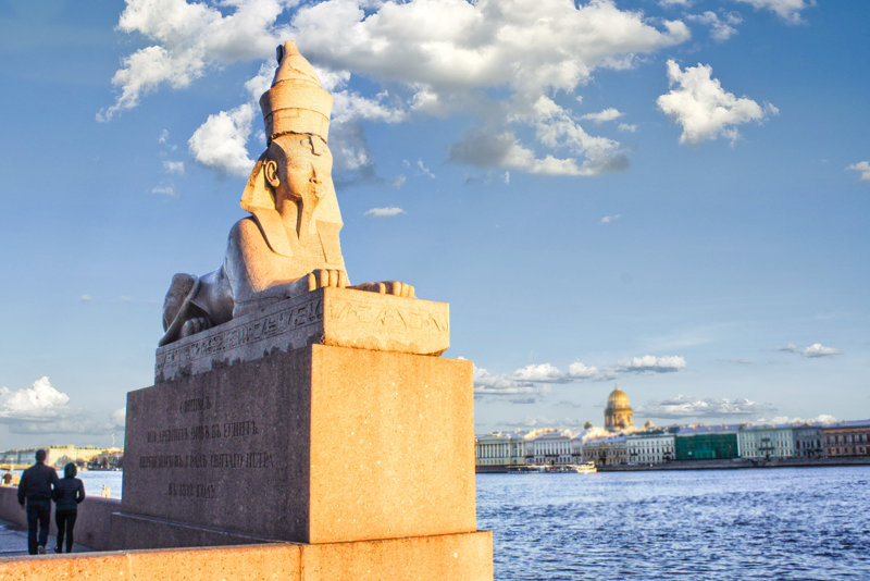 Things to do in St. Petersburg : meet Egyptian Sphinxes
