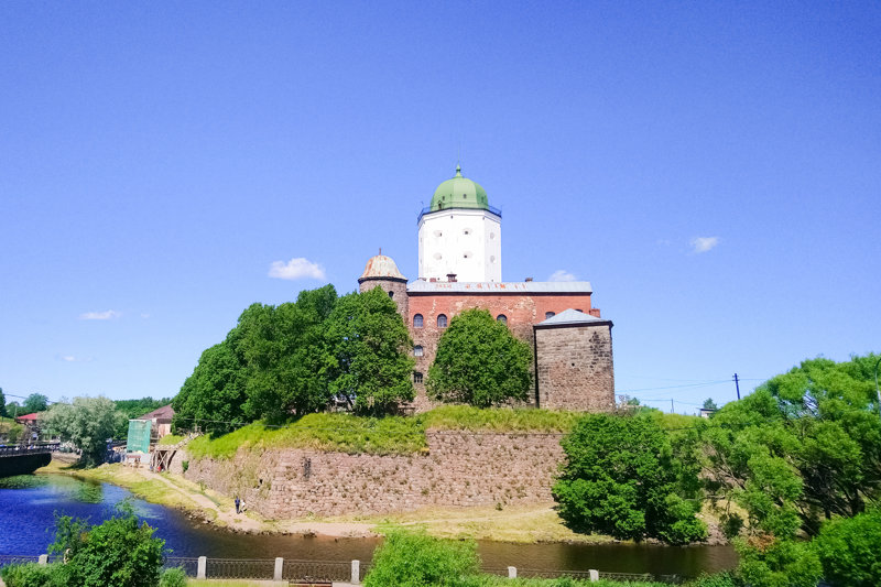 Tower of St. Olaf, the dominant structure of Vyborg Castle