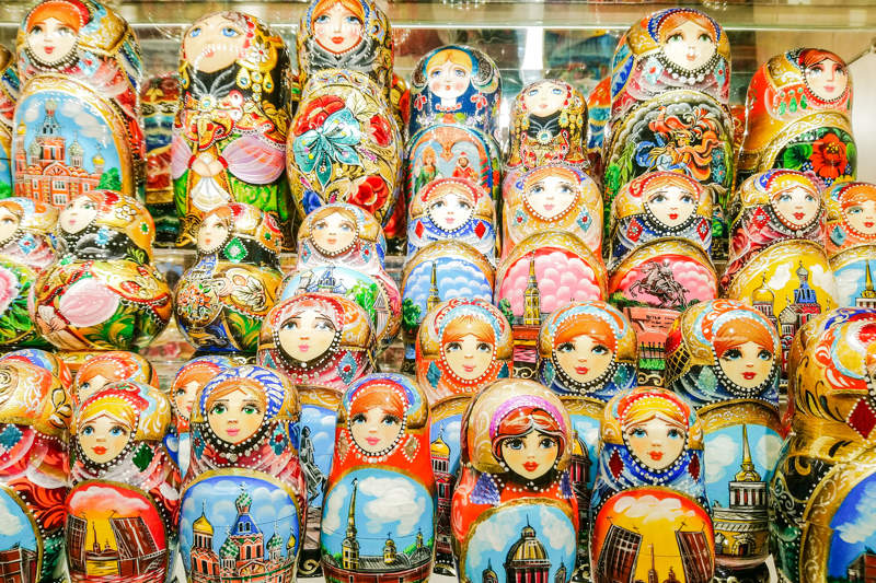 Traditional Russian souvenir - matryoshka