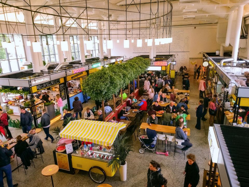 Vasileostrovsky Market in Saint Petersburg, Russia