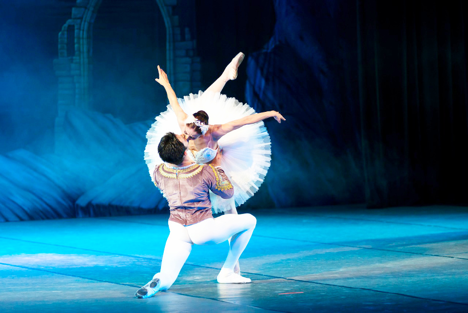 Swan Lake ballet in one of the most known Russian ballets