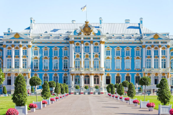 Catherine Palace in Tsarskoye Selo, imperial suburb of St Petersburg
