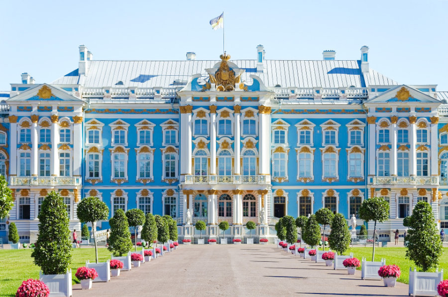 Catherine Palace in Tsarskoye Selo, imperial suburb of St Petersburg