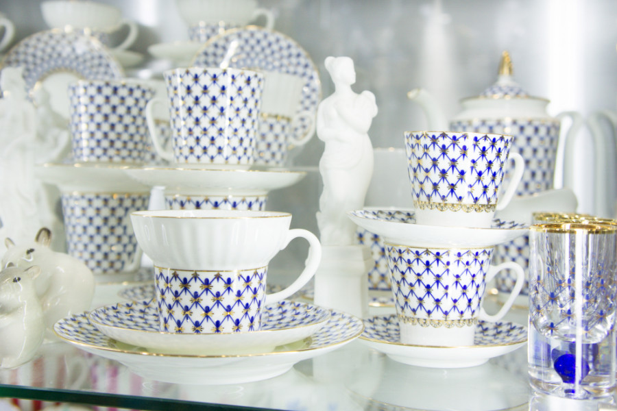 Imperial Porcelain Factory in St Petersburg, Russia