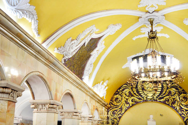 Explore the underground sights of Moscow — the Moscow metro