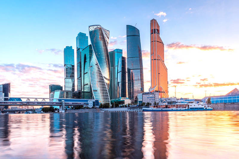Moskva City is great example of contemporary architecture in Moscow, Russia
