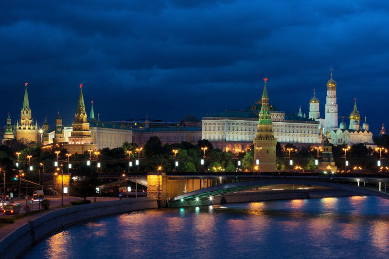 Moscow at night is beautiful and mysterious
