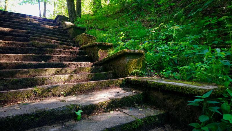 Old staircase in Komarovo