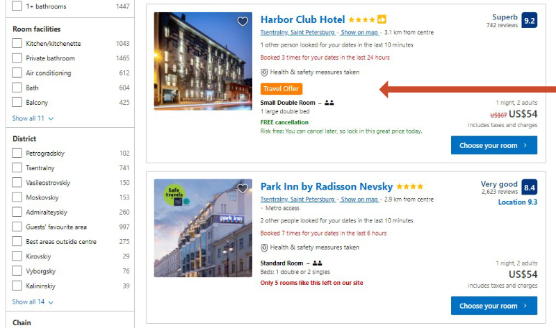How to find discounts on Booking.com