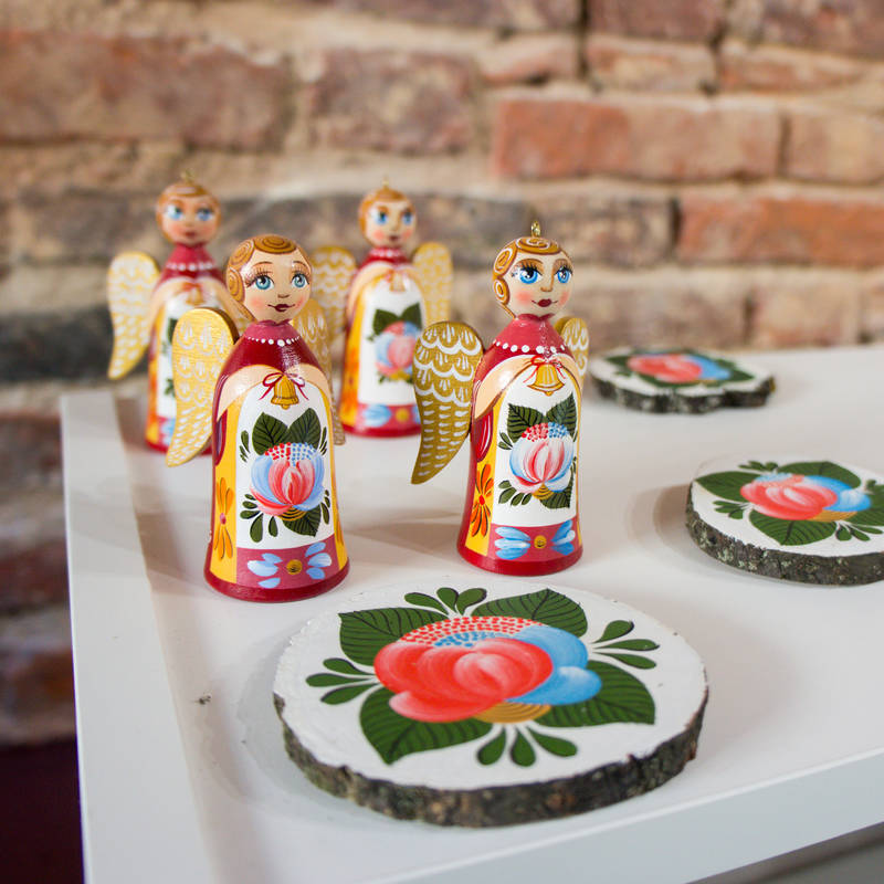 Volkhov painting, one of the traditional Russian crafts