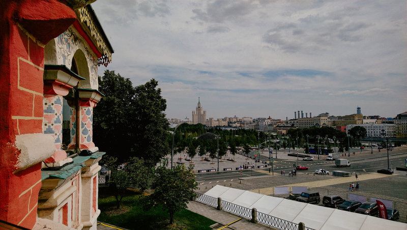 View of Moscow from St Basil's Cathedral