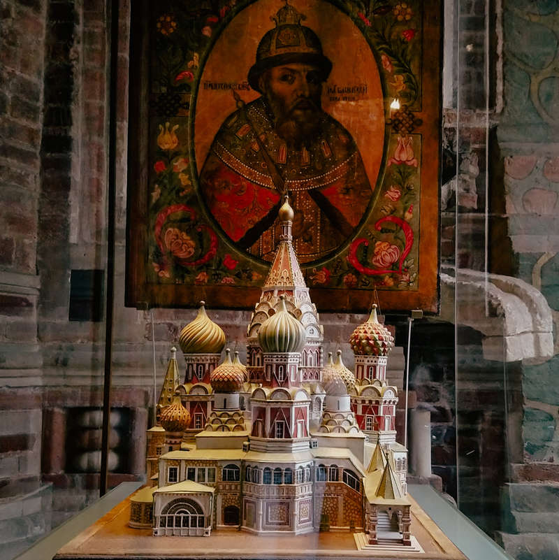 Model of St Basil's Cathedral in Moscow