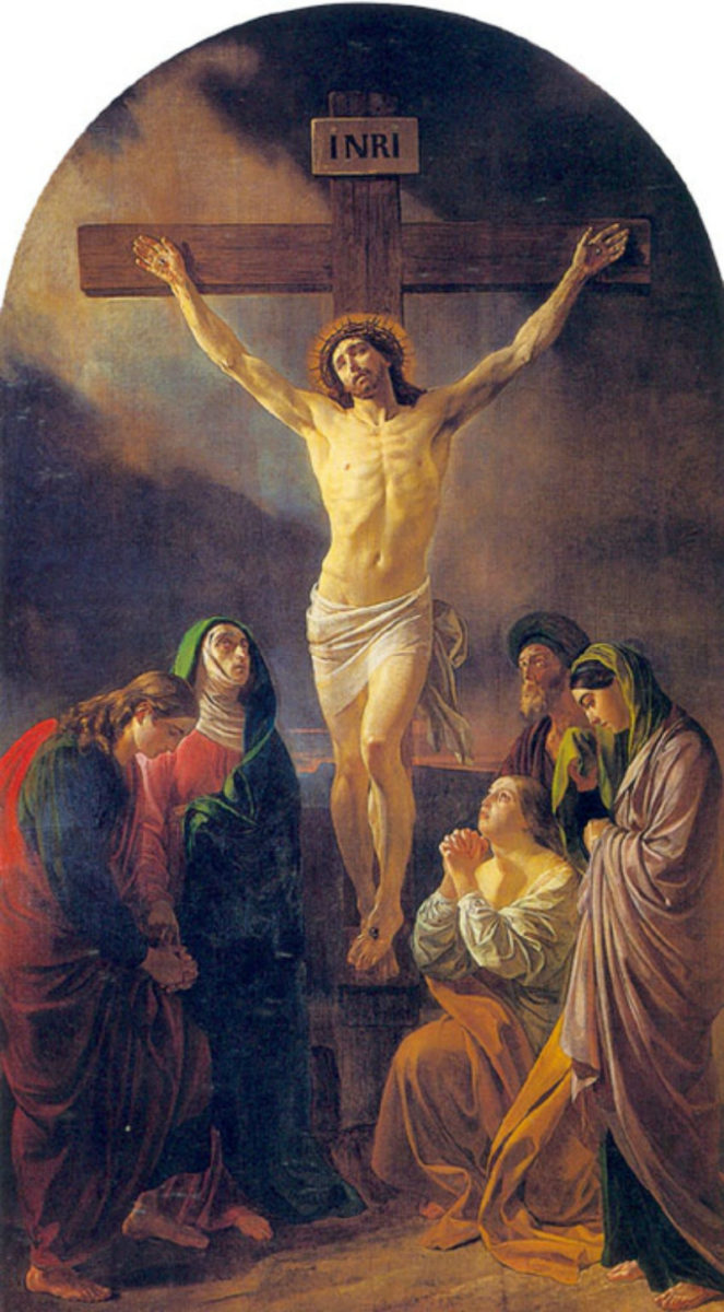 Painting 'Crucifixion' by Karl Brullov was the centrepiece of the altar at Petrikirche.