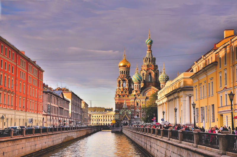Canal Griboedova and Church of the Saviour on Spilled Blood.