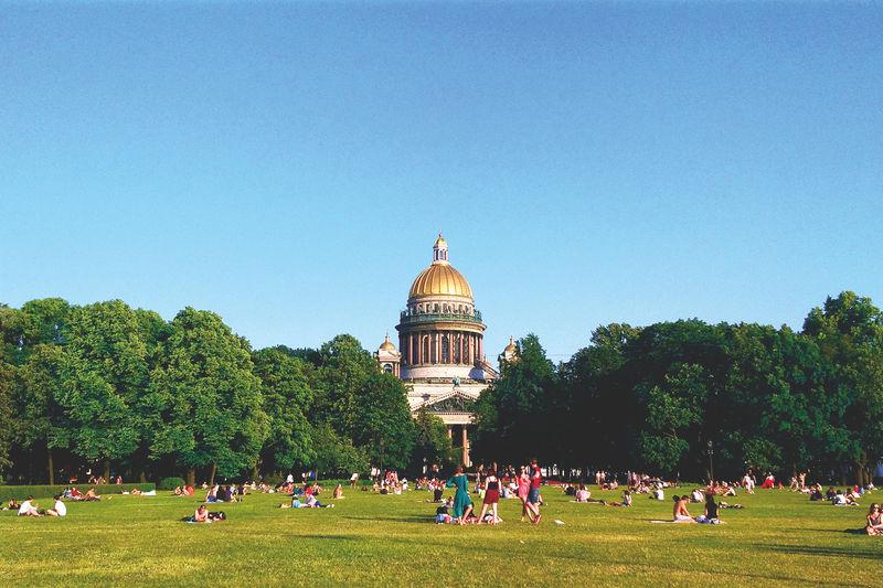 Summer day in Alexander Park, St Petersburg