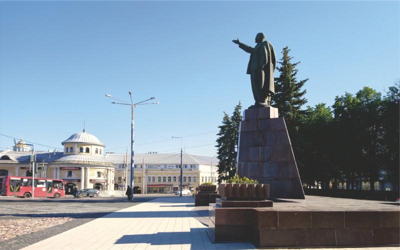 Lenin Square, the central square of Ryazan