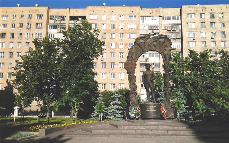 Monument to General Vasily Margelov, one of the founders of the Russian Airborne Forces