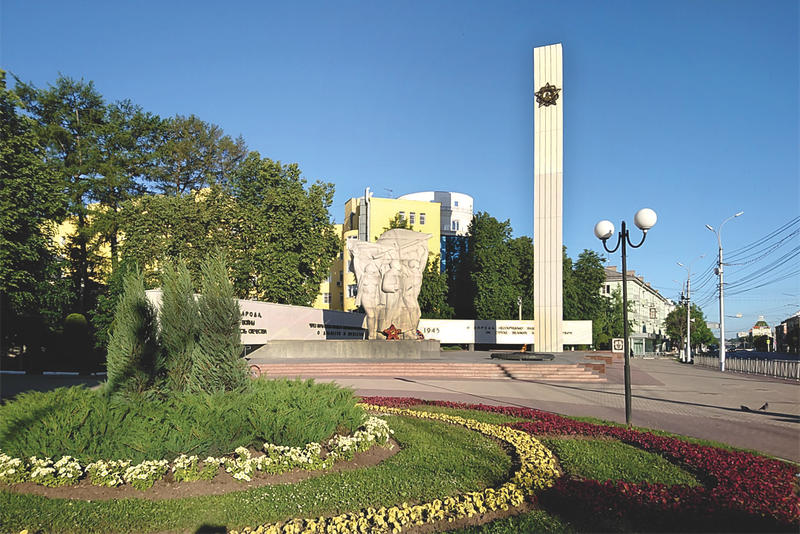 Victory Monument to the heroes of World War II in Ryazan, Russia