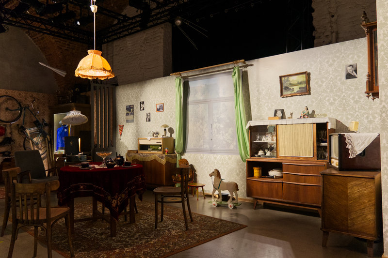 A Soviet-style apartment of a family of football fans