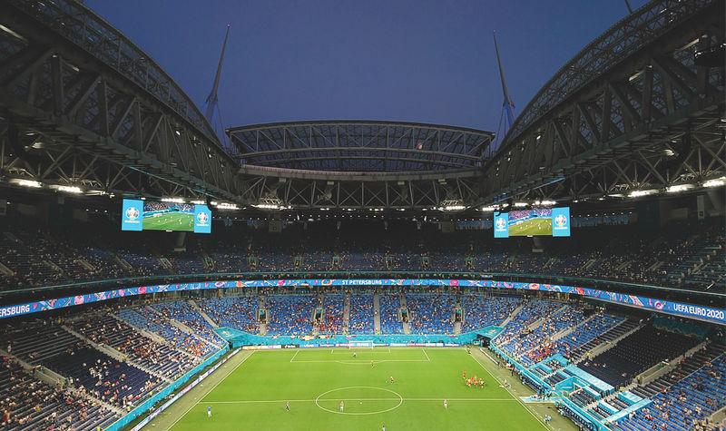 Saint Petersburg Stadium inside