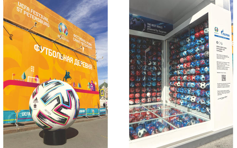 Photo zones for EURO 2020 fans