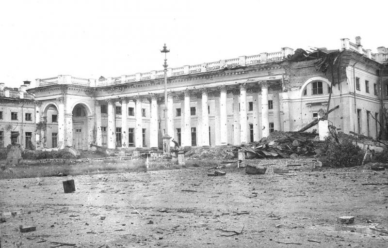 Alexander Palace after the Nazis occupation