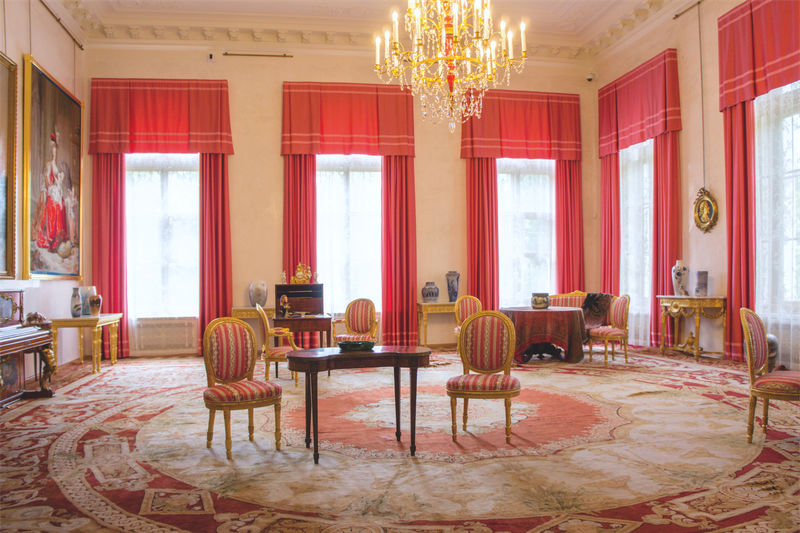 Corner Drawing Room in Alexander Palace