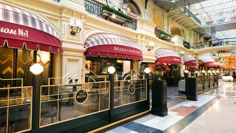 Caviar bar Beluga in GUM, Moscow