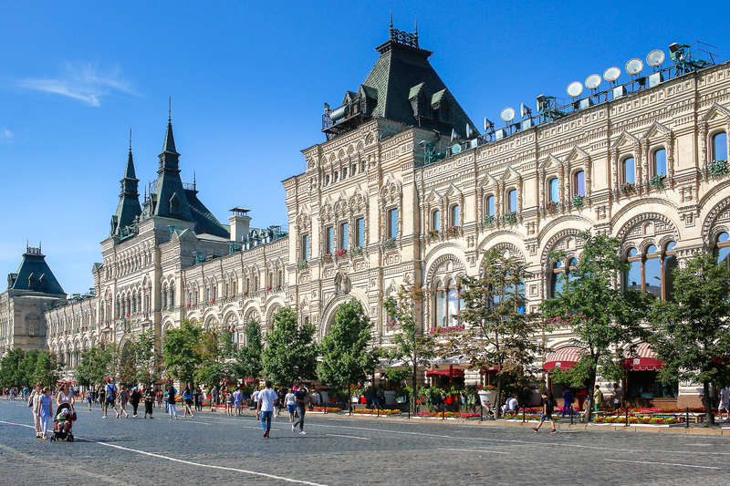 Department store GUM on Red Square in Moscow