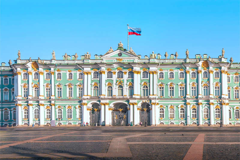 Winter Palace on Palace Square in St Petersburg, Russia
