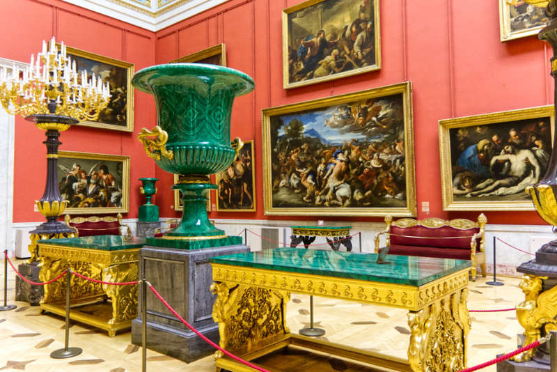 Collections of the Hermitage Museum include paintings, furniture, sculpture, and other pieces of art