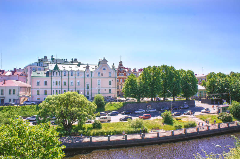 Embankment in the centre of Vyborg
