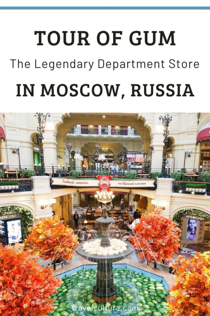 Tour Of GUM, the legendary department store in Moscow, Russia